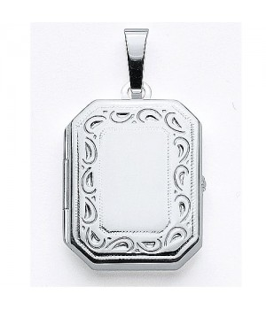 AOS141 Medaillon pendentif porte photo cassolette gravure gratuite