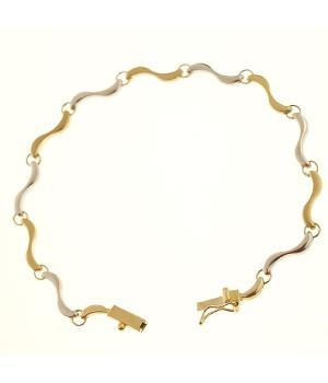 Bracelet bicolor Or  750 19cm