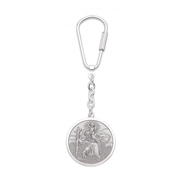 Porte cl argent massif 925 saint christophe - Porte cle argent massif ...
