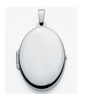 AA101 Medaillon Porte Photo Pendentif Cassolette Or blanc massif 375/1000