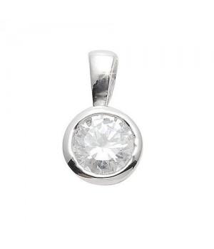 AN114436 Pendentif argent rhodié zirconium
