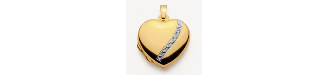 grand choix de médaillons en or massif de haute qualité de joaillerie