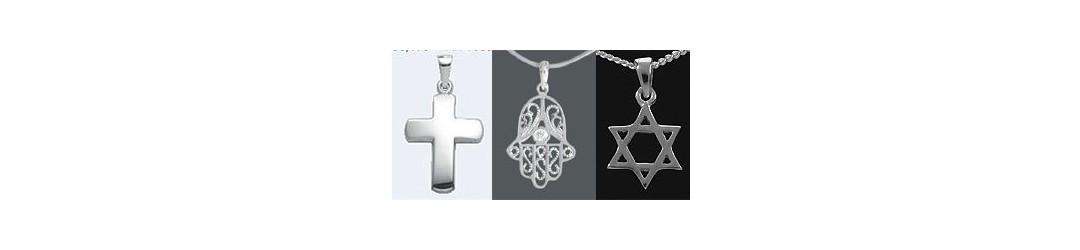 croix symbole religieux argent